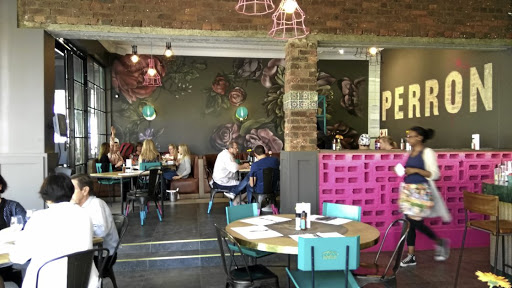 The décor at Perron in Melville is bold and gorgeous.
