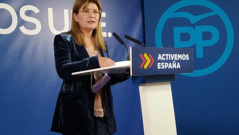 Rosalía Espinosa, este viernes en rueda de prensa.
