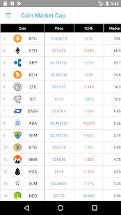 CoinPrice - Coin Market Cap - náhled