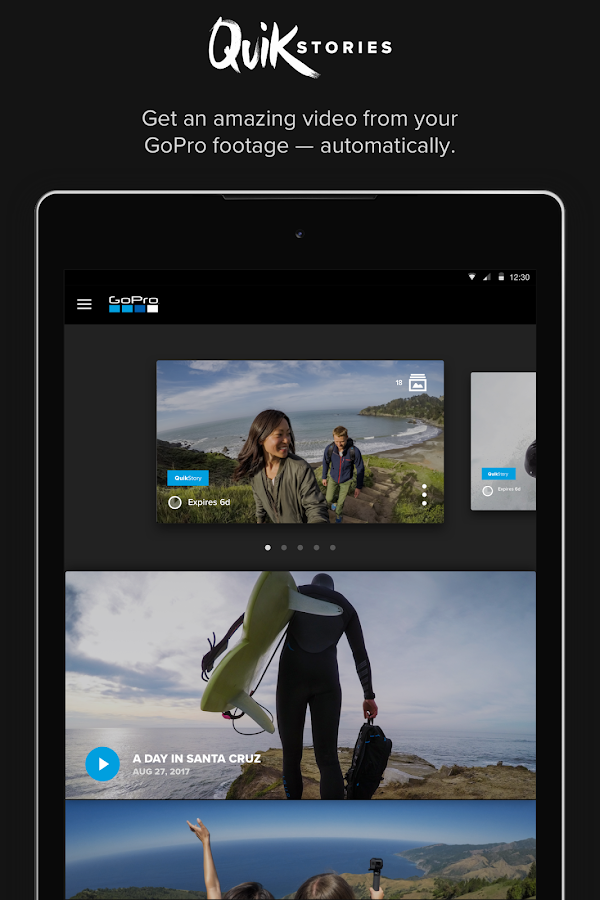 GoPro (formerly Capture) – Featuring QuikStories- screenshot