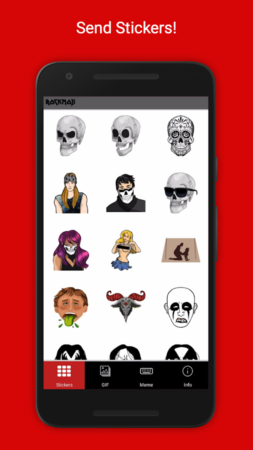 Rockmoji- screenshot