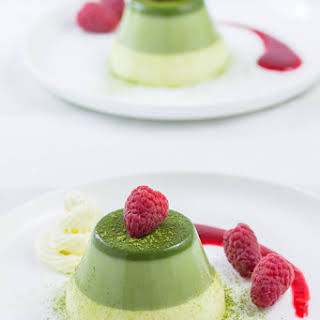 Layered Green Tea Panna Cotta.