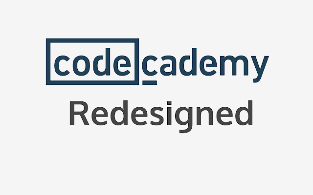 Codecademy Redesigned