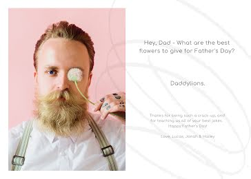 Father's Day Daddylions - Father's Day Card Template
