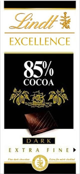 Lindt Excellence 85 Percent Cocoa Dark Chocolate - 100g
