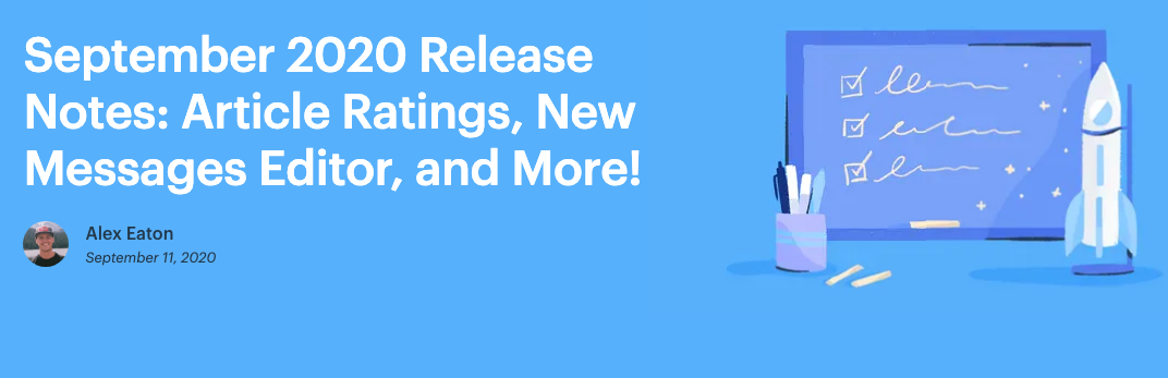 HelpScout exceptional blog posts discussing each release.