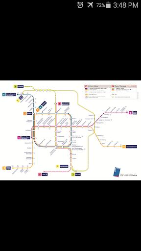 Brussels Metro Tram Map