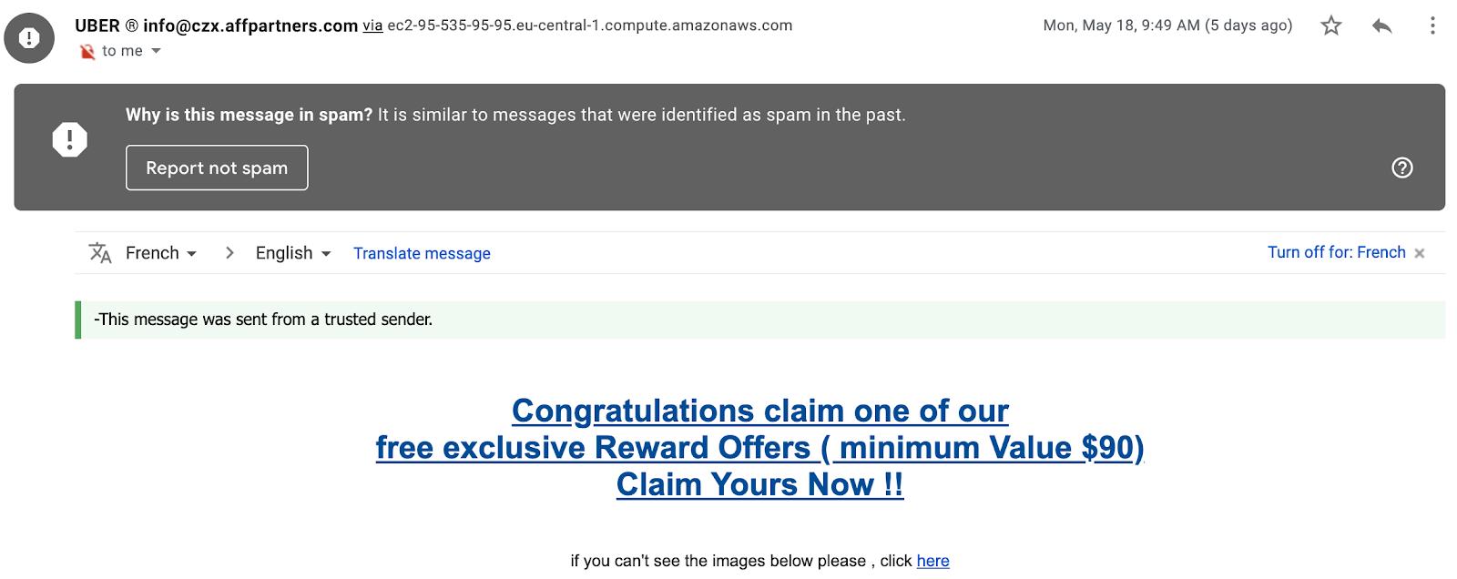 freelance spam example