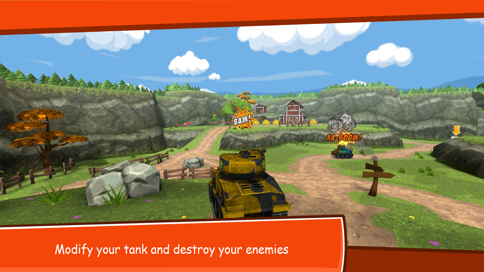 Toon Wars: Battle tanks online- screenshot
