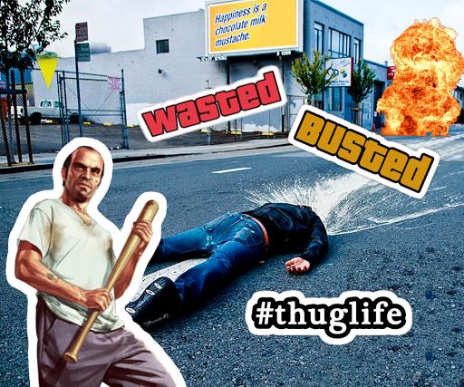 Wasted Photo Maker: Grand Theft Gangster Sticker 1.02 screenshots 6