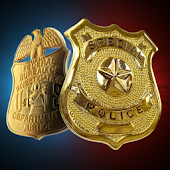 Police Badge. Simulator