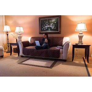 Husa de protectie reversibila pentru canapea 3 locuri