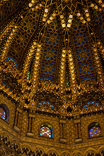 Photo: The ceiling in the Mausoleum of Mohammed V in Rabat