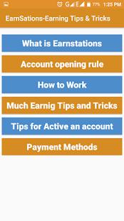 EarnSations-Earning Tips & Tricks - náhled