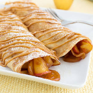 Sweet Apple Crepes with a Peanut Butter Drizzle.