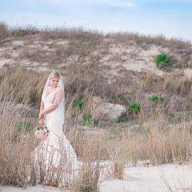 Beach bridal by Teena Emerson - Wedding Bride ( bride, beach, bridal portrait )