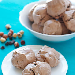 Hazelnut Latte Chocolate Meringue Cookies