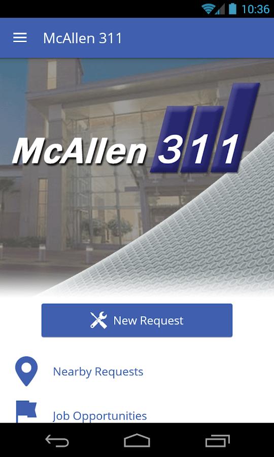 McAllen 311 - screenshot