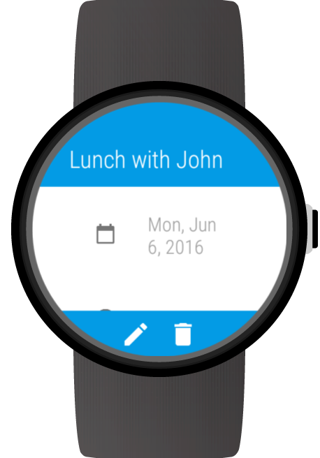 Calendar for Wear OS (Android Wear) screenshots