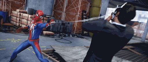 スパイダーマンPS4:蜘蛛の糸攻撃