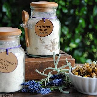 Chamomile Lavender Oatmeal Milk Bath.