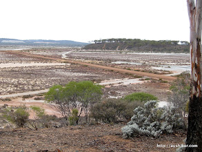 Photo: Lake Cowan from the Lake Cown Lookout, Norseman