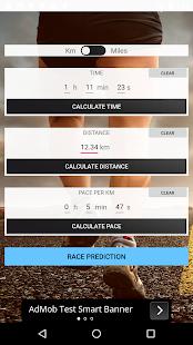 Kalkulačka pro běžce (vzdálenost, čas a tempo) - náhled