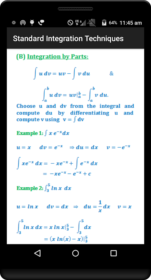 Calculus Quick Reference Free- screenshot