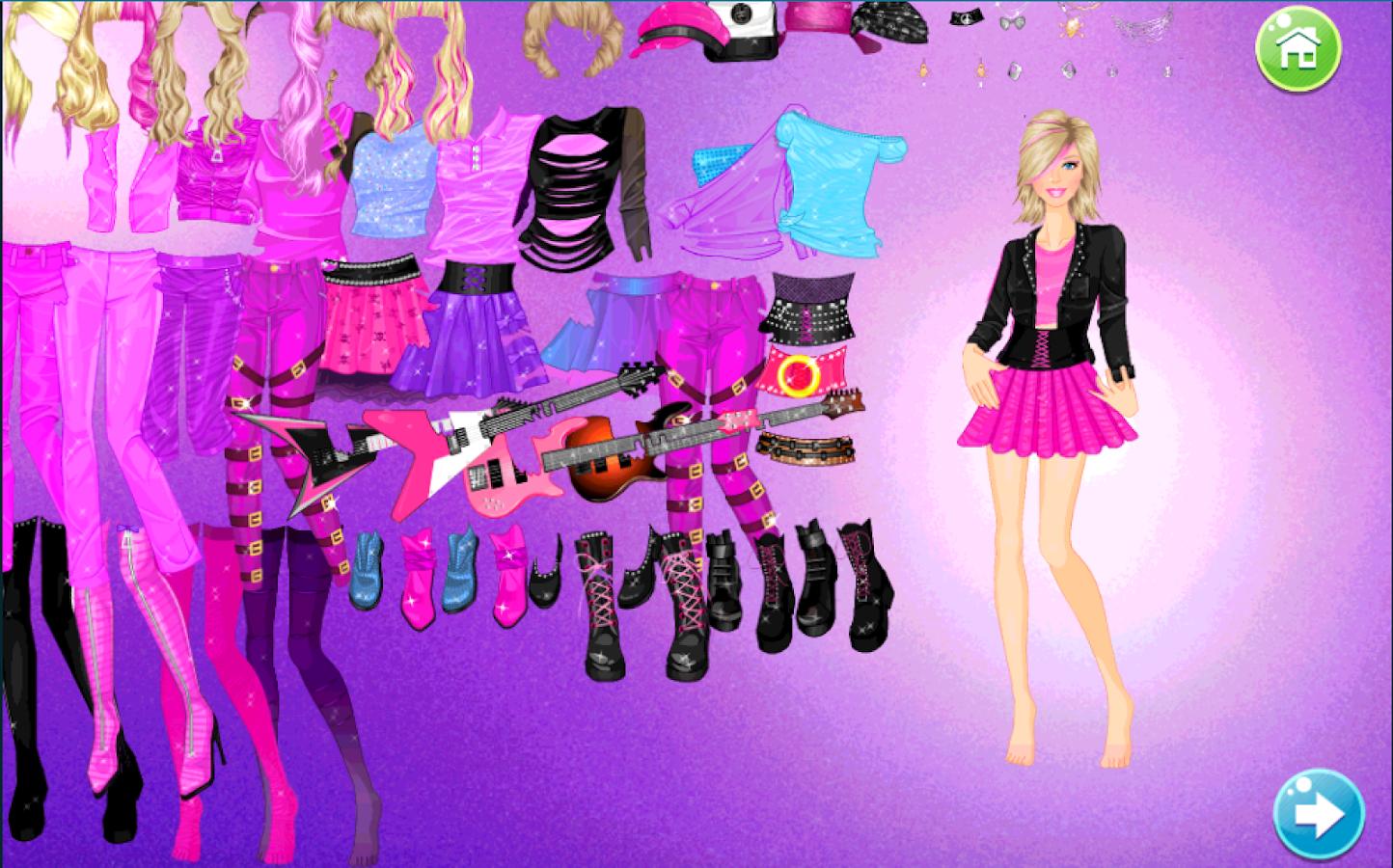Dress up of princess - Rock Princess Dress Up Screenshot