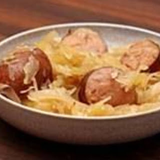 Granny's Polish Sausage With Sauerkraut.