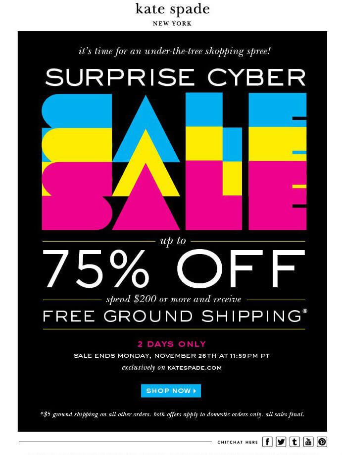 Kate Spade surprise cyber sales