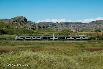 Photo: NSB BM72 electrical Multiple Unit, local train on the line Jærbanen running between Egersund and Stavanger