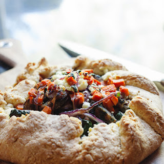 Savory Chicken Sausage and Vegetable Galette.