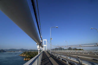 "Photo: ■Today's Elevated Expressways This photo is taken by +Takahiro Yanai ! This is Nishiseto Expressway (西瀬戸自動車道) , or ""Shimanami-kaido(しまなみ海道)"" . おはようございます、今日の高架道路をご紹介。 しまなみ海道の橋をGooooonと。 +Elevated Expressways #elevatedexpressways"