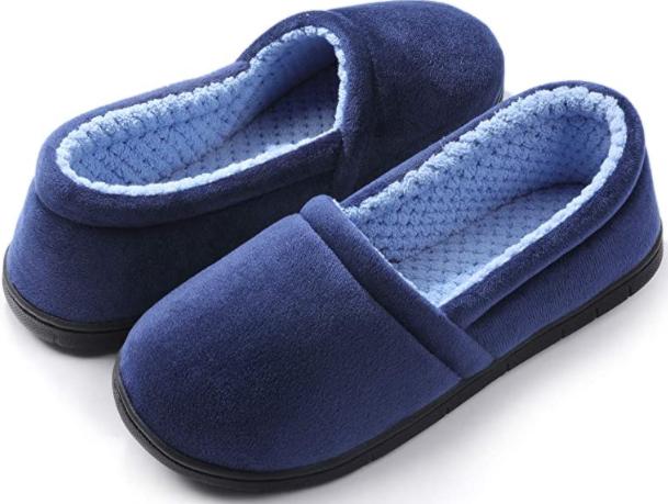 cozy slippers non-slip blue