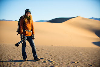 Photo: Chasing Amy  Oh man does this woman have some energy. My old and sorry ass couldn't keep up with her. This is +Amy Heidenon our first morning out in the dunes just after sunrise.  #dvonewaytrip13