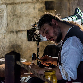 Man at work  by John Haswell - People Street & Candids ( knights, candid, medieval, working, event, portrait,  )