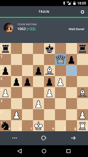 Screenshot 1 for Chesscademy's Android app'