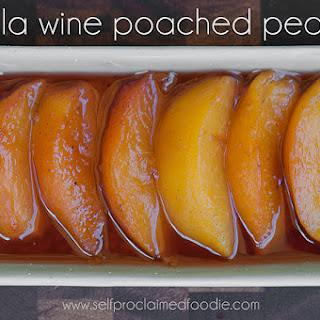 Vanilla Wine Poached Peaches