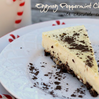 Eggnog Peppermint Cheesecake