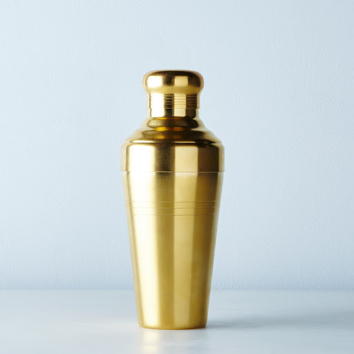 Matte Gold Japanese Cocktail Shaker