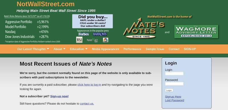 Nate's Note