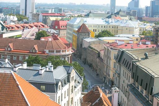 tallinn-castle-view-of-street.jpg - View of the street from Kiek in de Kök's cannon tower in Tallinn.