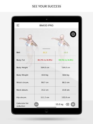 BMI 3D - Body Mass Index and body fat in 3D 5.6 Screenshots 7