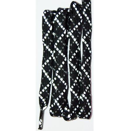 Skosnöre svart reflex 110cm