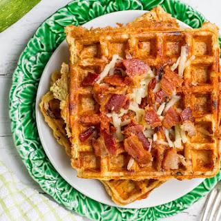 Zucchini Cheddar Whole Wheat Waffles