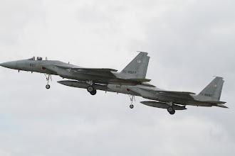 Photo: 編隊飛行のF-15J 170mmで撮影
