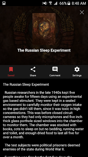 Creepypasta Reader screenshot