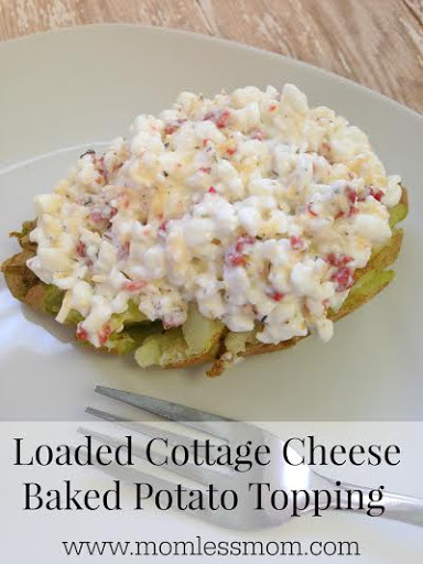 Peachy Loaded Cottage Cheese Baked Potato Topping Interior Design Ideas Gentotryabchikinfo