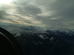 Photo: We start our Alps flight; the weather is actually better than it looks on this photo http://www.swiss-flight.net
